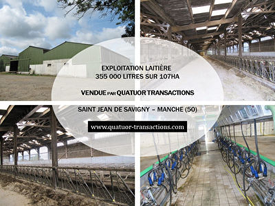 SOLD IN 2018. MANCHE. Dairy farm on 107 hectares