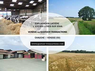 VENDEE. Dairy farm 95 hectares with nice plot