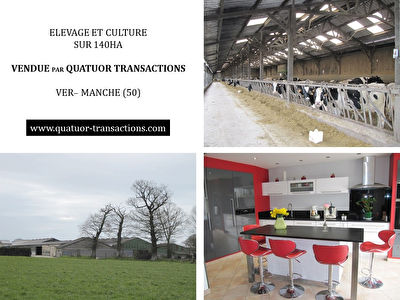 SOLD IN 2019. CENTRAL MANCHE. Mixed farm on 140 hectares